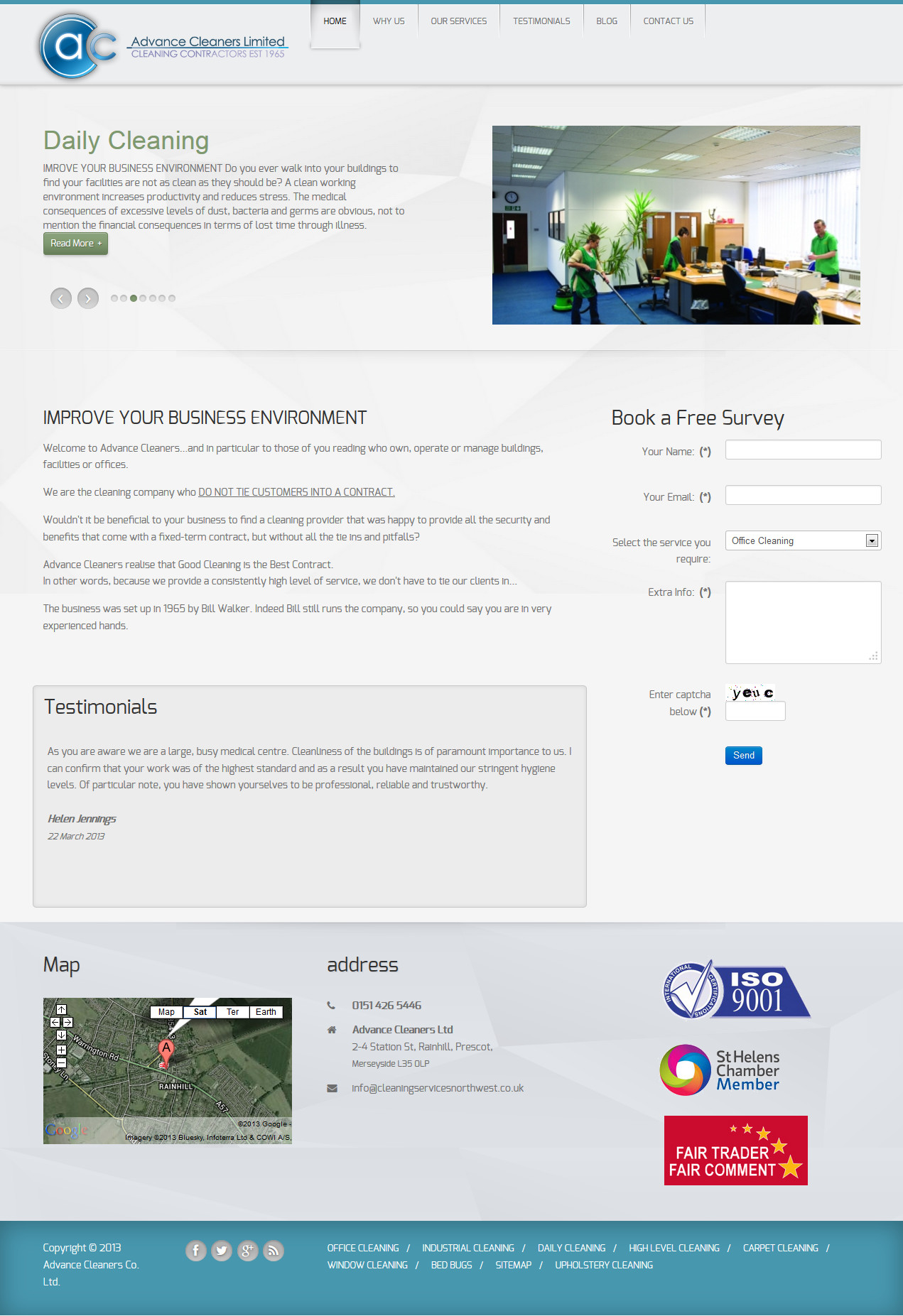Advance Cleaners Web Design
